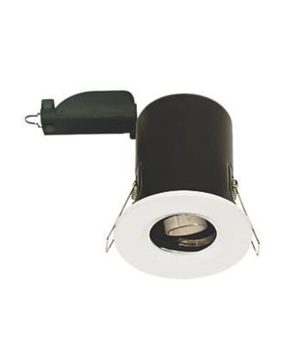 LAP FIXED FIRE RATED DOWNLIGHT WHITE 230-240V
